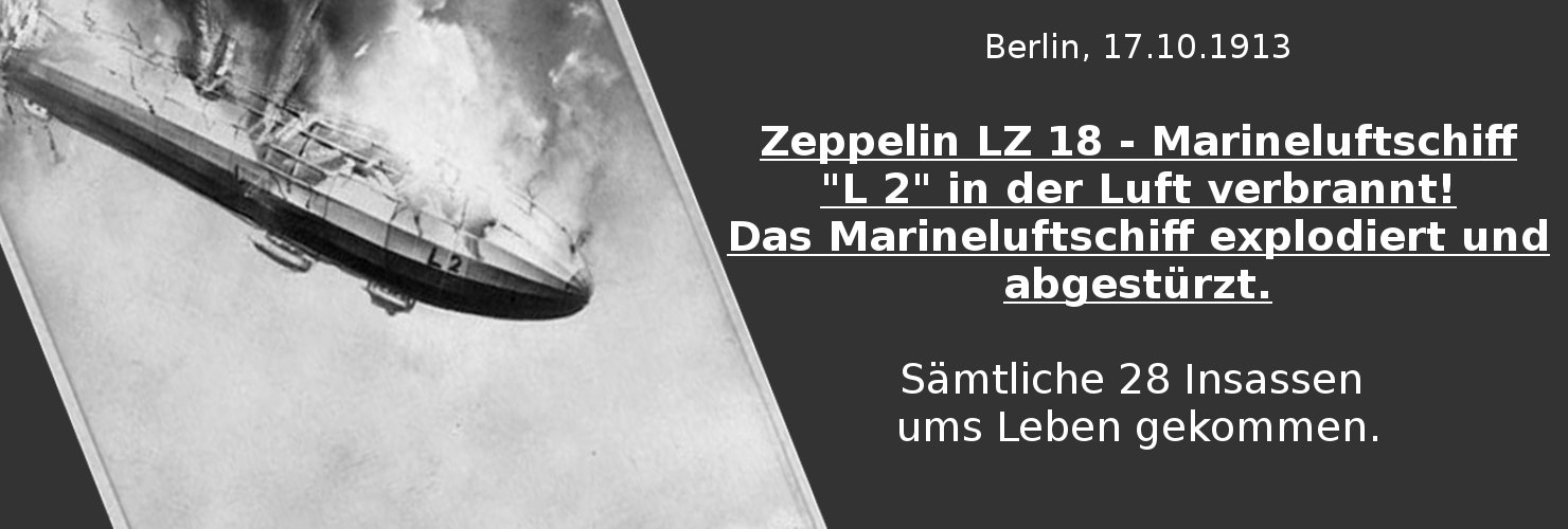 L2 Zerstörte Zeppelin-Luftschiffe
